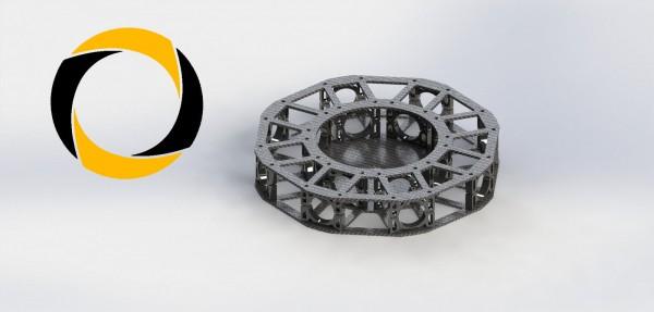 Centerbox für Octocopterrahmen Black